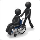 事故の後遺障で車いすになった人
